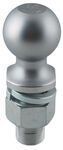 "Hitch Ball with 2-5/16"" Diameter and Medium Shank, 20,000 lbs GTW - Chrome"