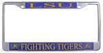 Louisiana State University License Plate Frame- LSU Fighting Tigers