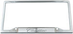 Cadillac Stainless Steel License Plate Frame - Cadillac Logo on Bottom