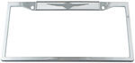 Chrysler Wings Stainless Steel License Plate Frame - Chrysler Logo on Top