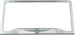 Chrysler Wings Stainless Steel License Plate Frame - Chrysler Logo on Bottom