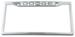 Dodge Stainless Steel License Plate Frame - Dodge Logo on Top