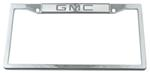 GMC Stainless Steel License Plate Frame - GMC Logo on Top