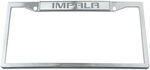 Impala Stainless Steel License Plate Frame - Logo on Top