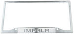 Impala Stainless Steel License Plate Frame - Logo on Bottom