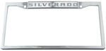 Silverado Stainless Steel License Plate Frame - Logo on Top