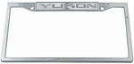 Yukon Stainless Steel License Plate Frame - Logo on Top
