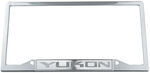 Yukon Stainless Steel License Plate Frame - Logo on Bottom