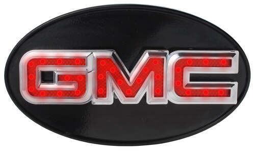 "GMC LED Lighted Trailer Hitch Cover - 1-1/4"" and 2 ..."