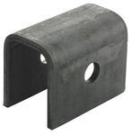 "Rear Hanger for Double-Eye Springs - 1-1/4"" Tall - 9/16"" Bolt Hole - Single Axle Only"