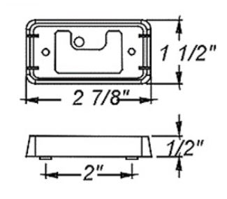 mounting bracket for optronics 90 series or 91 series
