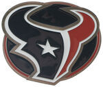 "Houston Texans NFL 2"" Trailer Hitch Cover"