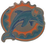"Miami Dolphins NFL 2"" Trailer Hitch Cover"