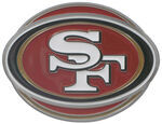 "San Francisco 49ers NFL 2"" Trailer Hitch Cover"