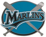 "Florida Marlins MLB Hitch Receiver Cover for 2"" Trailer Hitches"