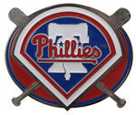 "Philadelphia Phillies MLB Hitch Receiver Cover for 2"" Trailer Hitches"