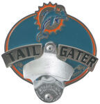 "Miami Dolphins NFL Tailgater 2"" Trailer Hitch Cover"