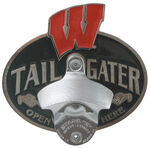 "Wisconsin W Tailgater 2"" Trailer Hitch Cover"