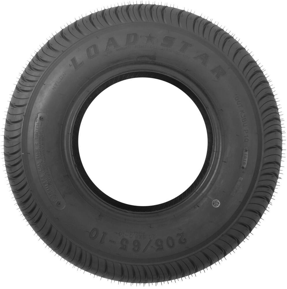 Loadstar K399 Bias Trailer Tire - 205/65-10 - Load Range C ...