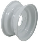 "Americana Steel Trailer Wheel - 8"" x 3-3/4"" Rim - 4 on 4 - White"