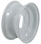 "Americana Steel Trailer Wheel - 8"" x 3-3/4"" Rim - 5 on 4-1/2 - White"
