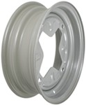 "Dexstar Vintage Steel Wheel w/ +5 mm Offset - 13"" x 4-1/2"" Rim - 4 on 9.44 - Silver"