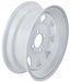 "Dexstar Steel Spoke Trailer Wheel - 13"" x 4-1/2"" Rim - 4 on 4 - White Powder Coat"