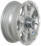 "Americana Aluminum Hi-Spec Series 6 Trailer Wheel - 13"" x 5"" Rim - 5 on 4-1/2"
