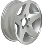 "Americana Aluminum Star Mag Trailer Wheel - 14"" x 5-1/2"" Rim - 5 on 4-1/2"