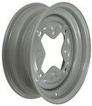 "Dexstar Vintage Steel Wheel w/ +5 mm Offset - 15"" x 5"" Rim - 4 on 9.44 - Silver"