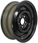 "Dexstar Conventional Steel Wheel with Offset - 15"" x 5"" Rim - 5 on 4-1/2 - Black"
