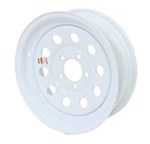 "Mini Mod Steel Wheel - White - 15"" x 5"""
