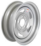 "Americana Silver Trailer Wheel - 15"" x 5"" Rim - 5 on 4-1/2"