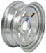 "Dexstar Steel Spoke Trailer Wheel - 15"" x 6"" Rim - 5 on 4-1/2 - Galvanized Finish"
