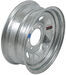 "Dexstar Steel Spoke Trailer Wheel - 15"" x 6"" Rim - 6 on 5-1/2 - Galvanized Finish"