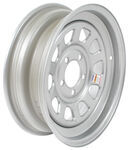 "Dexstar Spoke Tri-Oval Trailer Wheel - 15"" x 5"" Rim - 5 on 4-1/2 - Silver Powder Coat"
