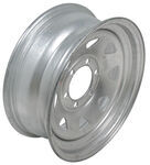 "Dexstar Steel Spoke Trailer Wheel - 16"" x 6"" Rim - 6 on 5-1/2 - Galvanized Finish"