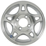 "Americana Aluminum Split Spoke Trailer Wheel - 12"" x 4"" Rim - 4 on 4"