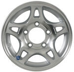 "Americana Aluminum Split Spoke Trailer Wheel - 12"" x 4"" Rim - 5 on 4-1/2"