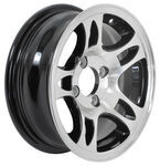 "Americana Aluminum HWT Series S5 Trailer Wheel - 13"" x 5"" Rim - 4 on 4 - Black"