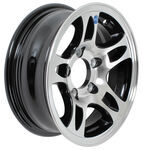 "Americana Aluminum HWT Series S5 Trailer Wheel - 13"" x 5"" Rim - 5 on 4-1/2 - Black"