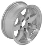 "Americana Aluminum 7-Star Spoke Trailer Wheel - 14"" x 5-1/2"" Rim - 5 on 4-1/2"