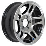 "Americana Aluminum HWT Series S5 Trailer Wheel - 15"" x 6"" Rim - 5 on 4-1/2 - Black"