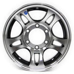 "Americana Aluminum HWT Series S5 Trailer Wheel - 15"" x 6"" Rim - 6 on 5-1/2 - Black"