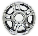 "Americana Aluminum HWT Series S5 Trailer Wheel - 16"" x 6-1/2"" Rim - 6 on 5-1/2 - Black"