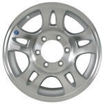 "Americana Aluminum Split Spoke Trailer Wheel - 16"" x 6-1/2"" Rim - 6 on 5-1/2"