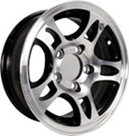 "Americana Aluminum HWT Series S5 Trailer Wheel - 16"" x 6-1/2"" Rim - 8 on 6-1/2 - Black"