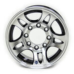 "Americana Aluminum HWT Series S5 HD Trailer Wheel - 16"" x 6-1/2"" Rim - 8 on 6-1/2 - Black"