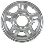 "Americana Heavy-Duty Aluminum Split Spoke Trailer Wheel - 16"" x 6-1/2"" Rim - 8 on 6-1/2"