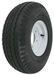 "Kenda 5.70-8 Bias Trailer Tire with 8"" White Wheel - 5 on 4-1/2 - Load Range B"